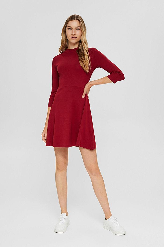 Jersey dress made of 100% organic cotton, DARK RED, detail image number 1