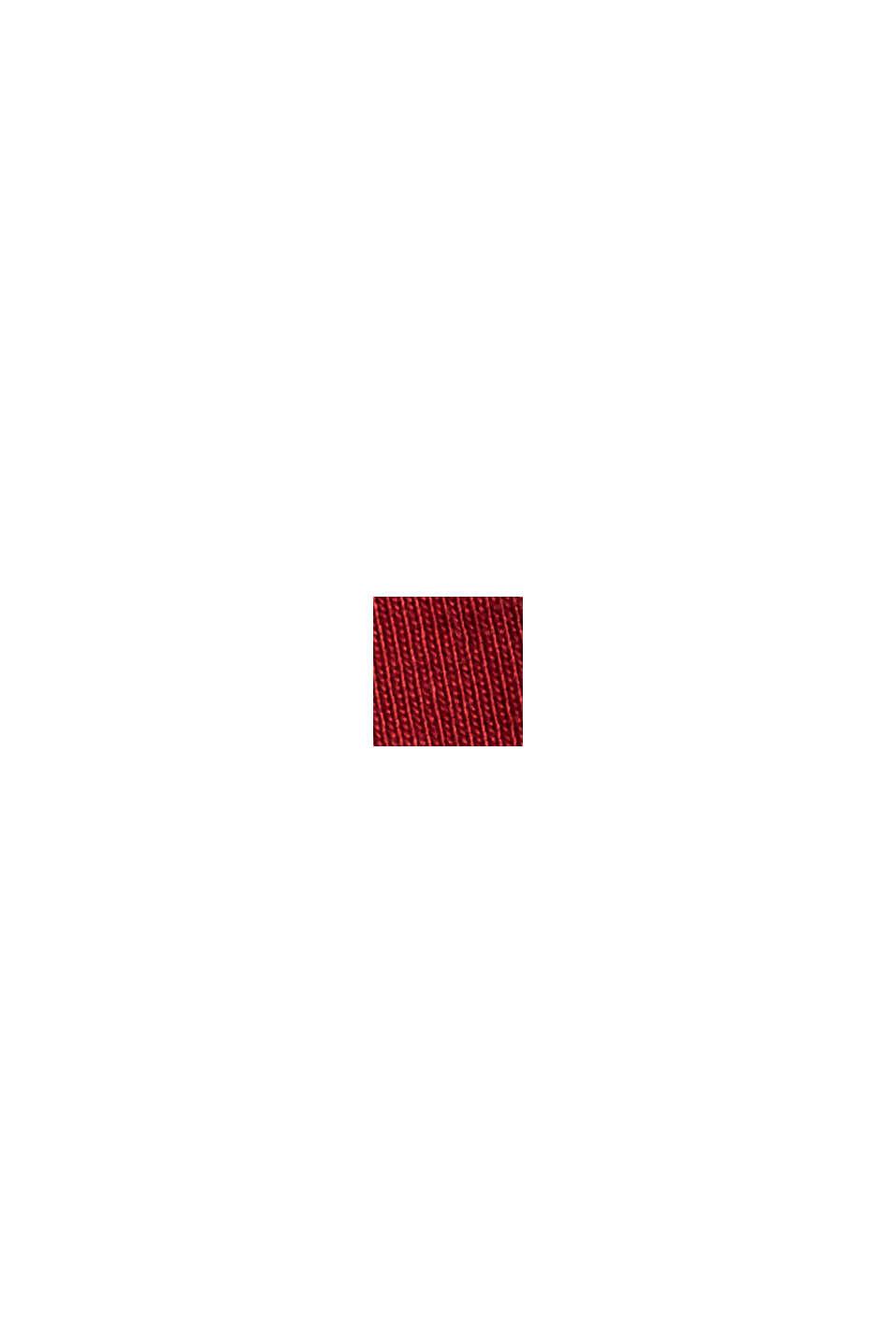 Jerseykleid aus 100% Organic Cotton, DARK RED, swatch