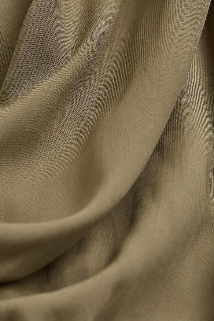 V-neck blouse made of LENZING™ ECOVERO™, LIGHT KHAKI, detail image number 4