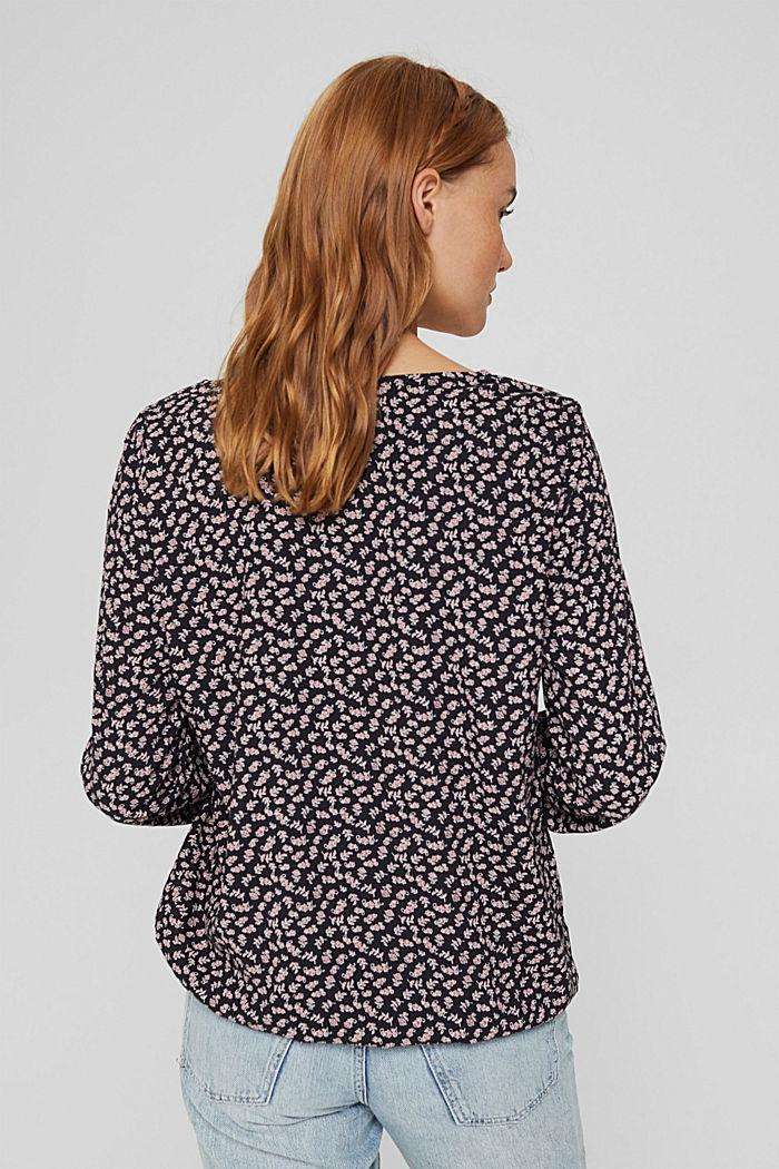 Bluse aus 100% LENZING™ ECOVERO™, NEW BLACK, detail image number 3