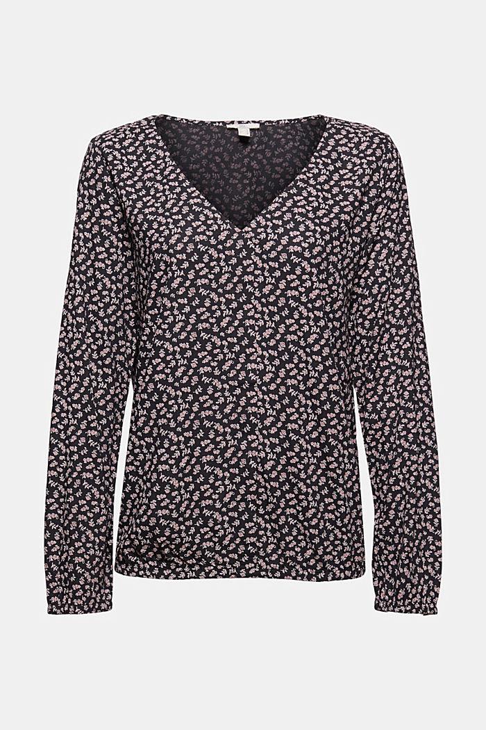 Bluse aus 100% LENZING™ ECOVERO™, NEW BLACK, detail image number 6