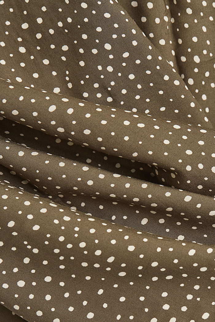 Blouse made from LENZING™ ECOVERO™, KHAKI GREEN, detail image number 4