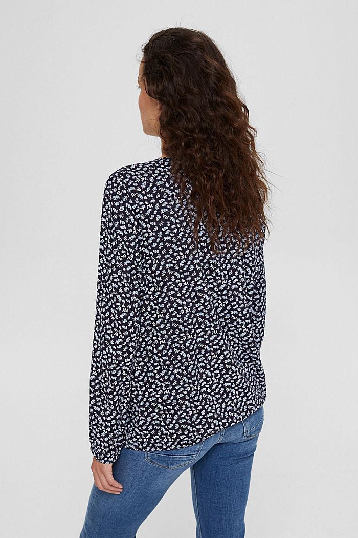 Bluzka ze 100%LENZING™ ECOVERO™, NAVY, detail image number 3