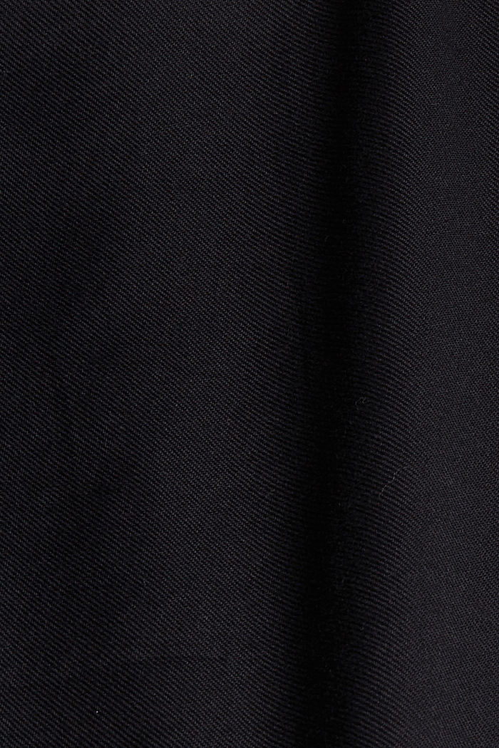 Henley blouse made of 100% cotton, BLACK, detail image number 4
