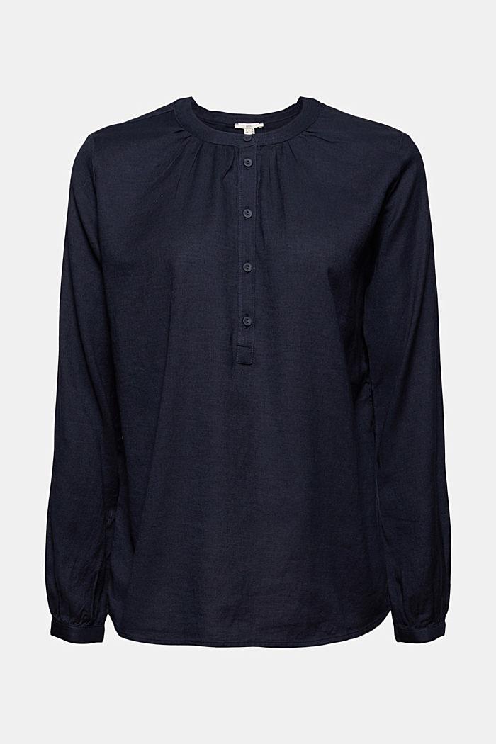Henley blouse van 100% katoen
