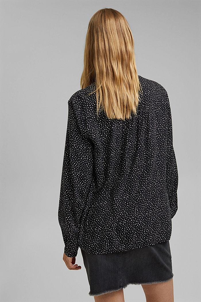 Bluzka henley z nadrukiem, LENZING™ ECOVERO™, BLACK, detail image number 3