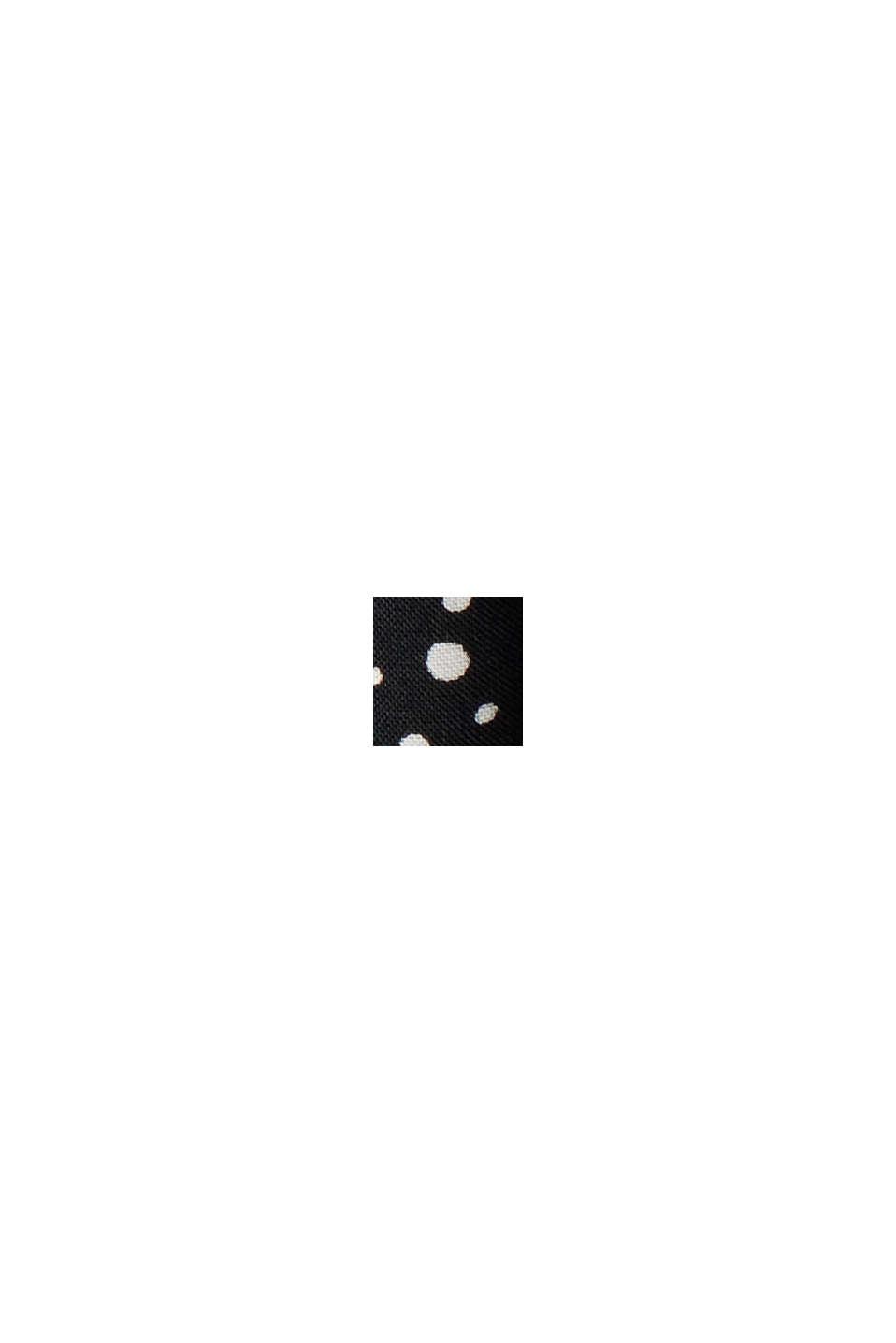 Henley-Bluse mit Print, LENZING™ ECOVERO™, BLACK, swatch