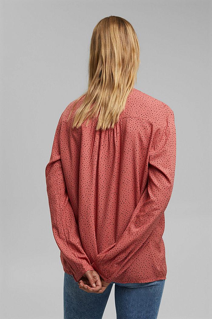 Bluzka henley z nadrukiem, LENZING™ ECOVERO™, CORAL, detail image number 3