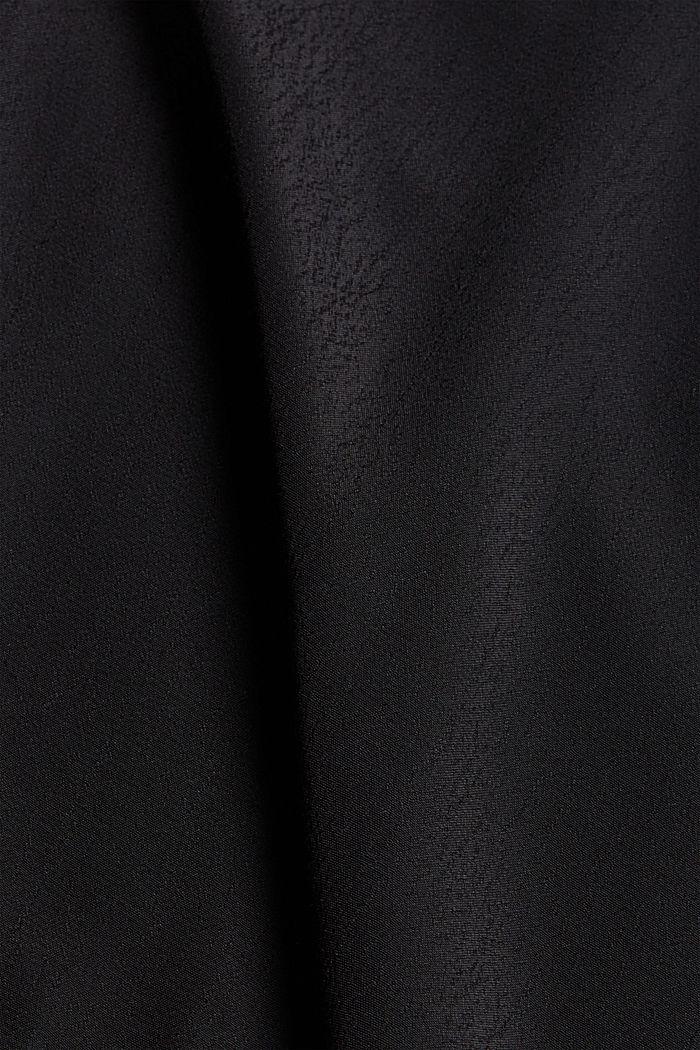 Blusa con volant e LENZING™ ECOVERO™, BLACK, detail image number 4