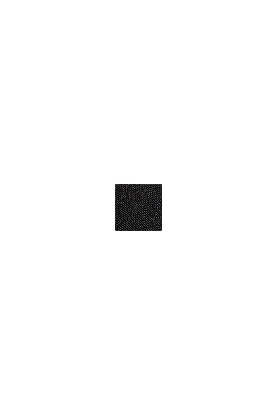 Bluse mit Volantdetails und LENZING™ ECOVERO™, BLACK, swatch