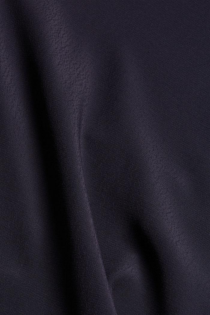 Bluse mit Volantdetails und LENZING™ ECOVERO™, NAVY, detail image number 4
