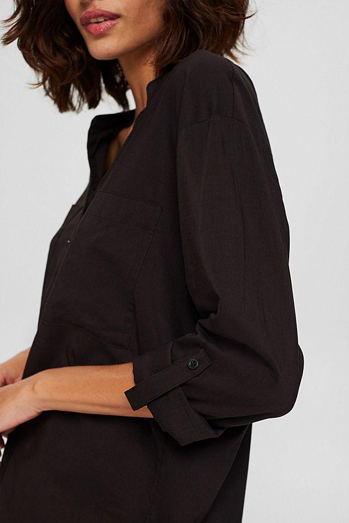 Pusero, jossa maljapääntie ja taskut, BLACK, detail image number 2