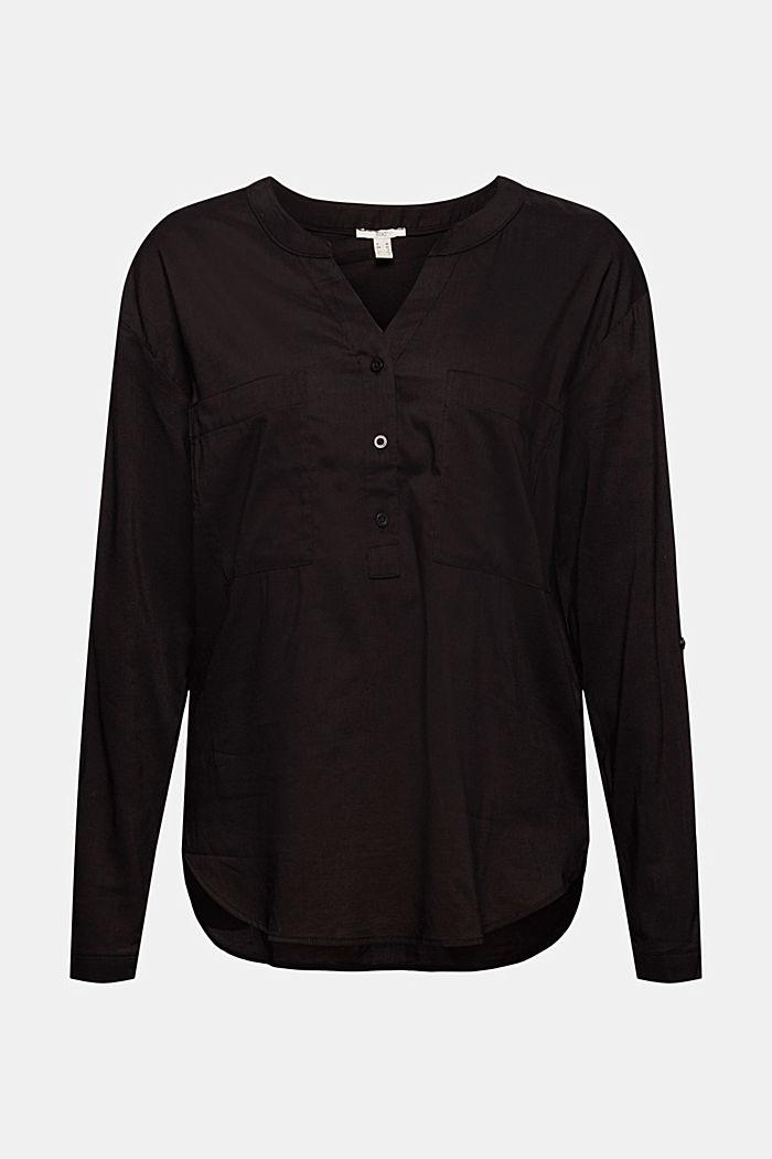 Pusero, jossa maljapääntie ja taskut, BLACK, detail image number 5