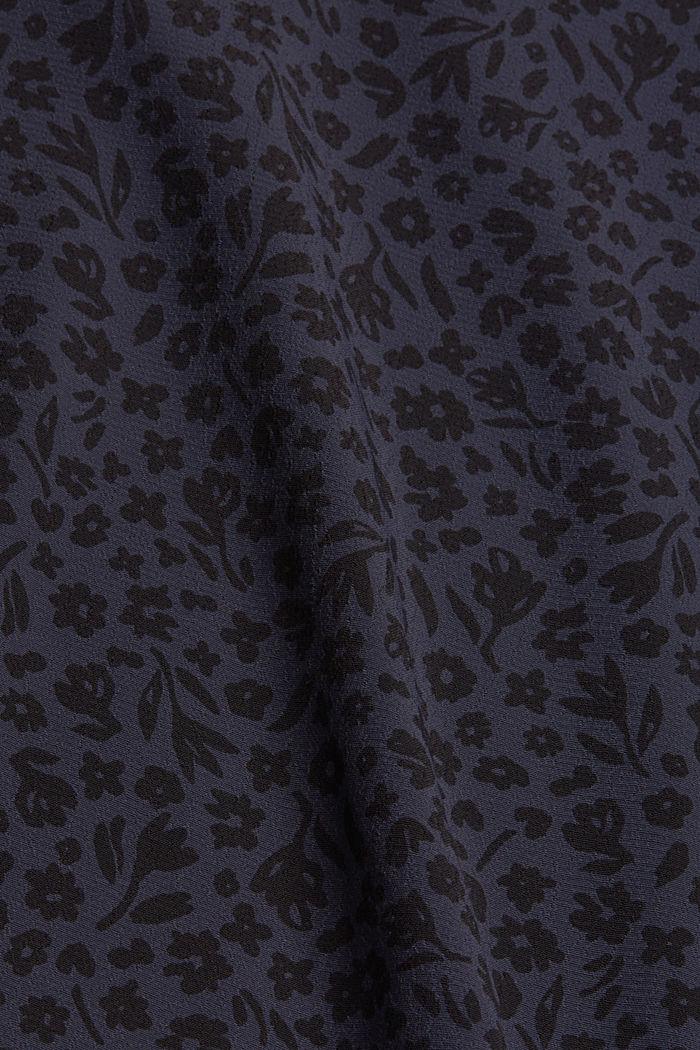 Gebloemde blouse met volantdetails, LENZING™ ECOVERO™, NAVY, detail image number 4