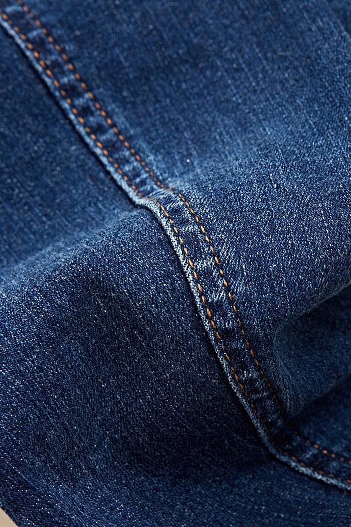 Kuluneen näköinen farkkutakki, luomupuuvillaa, BLUE DARK WASHED, detail image number 4