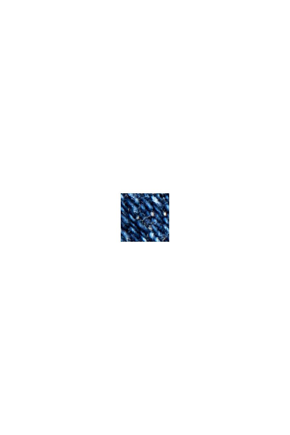 Jeansjacka i sliten look, ekologisk bomull, BLUE DARK WASHED, swatch