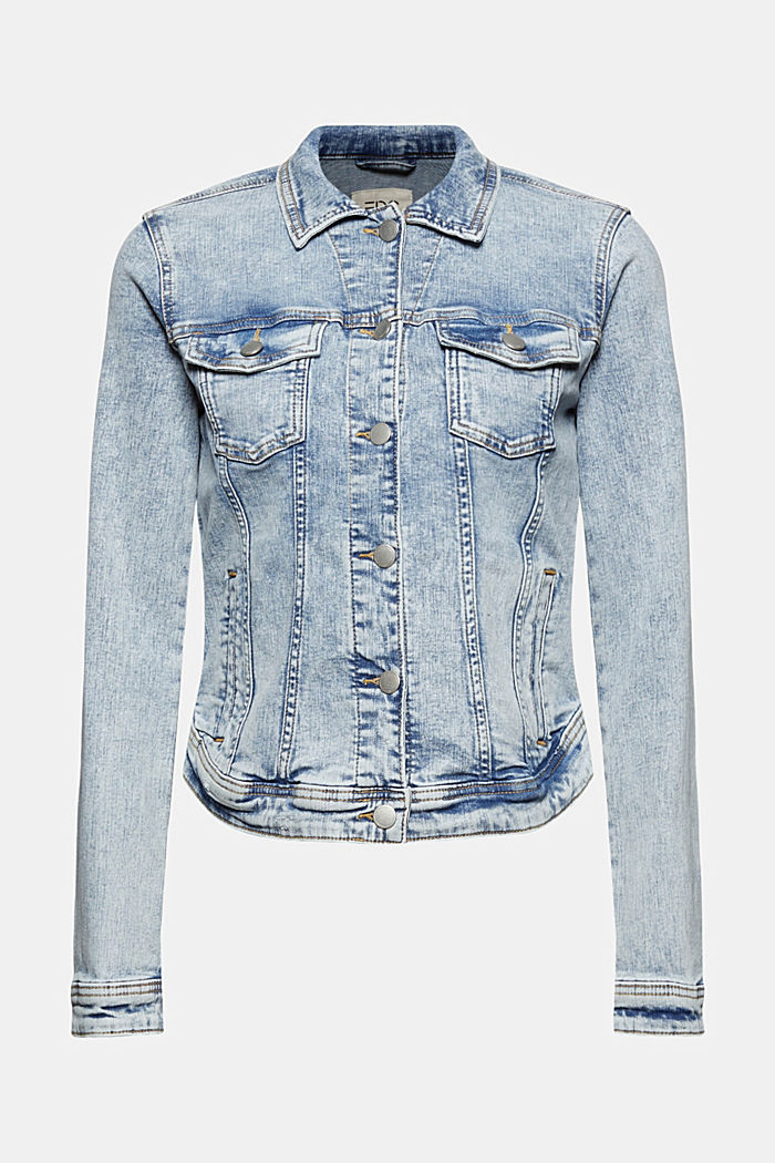 Denim jacket in a vintage look, in organic cotton