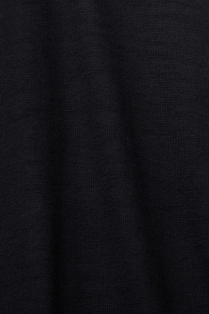 Cardigan ouvert, 100% coton biologique, BLACK, detail image number 4