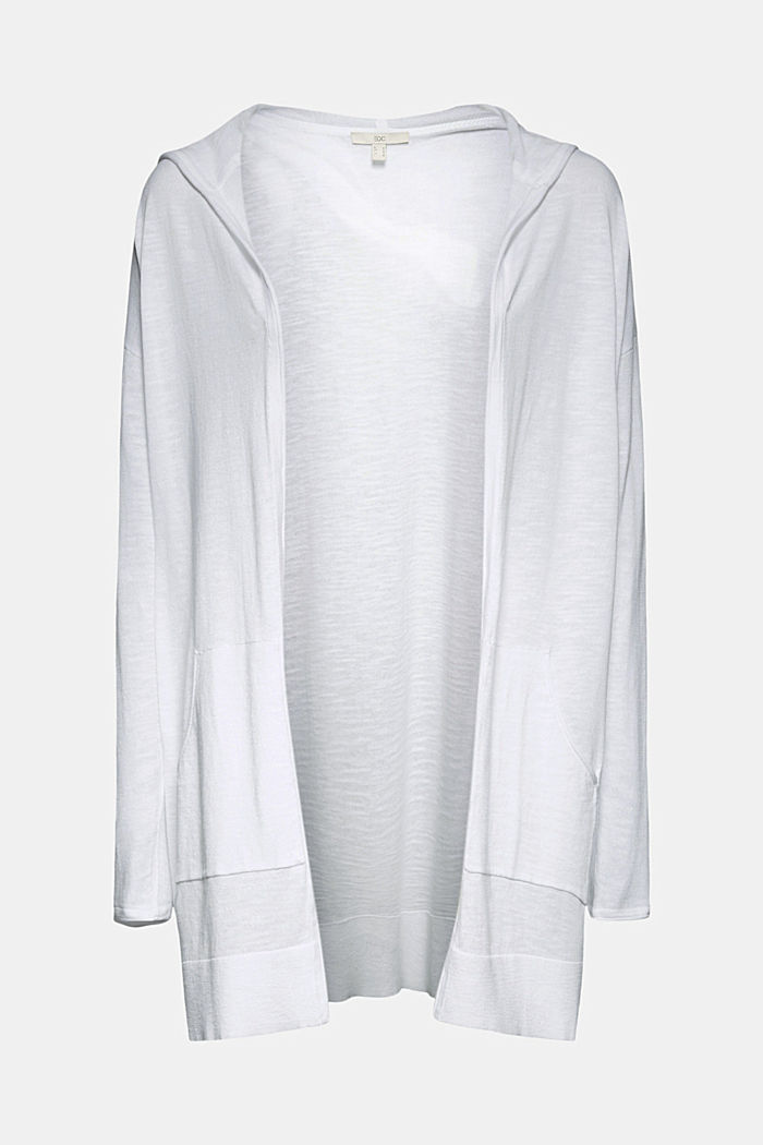 Open cardigan made of 100% organic cotton, WHITE, detail image number 6