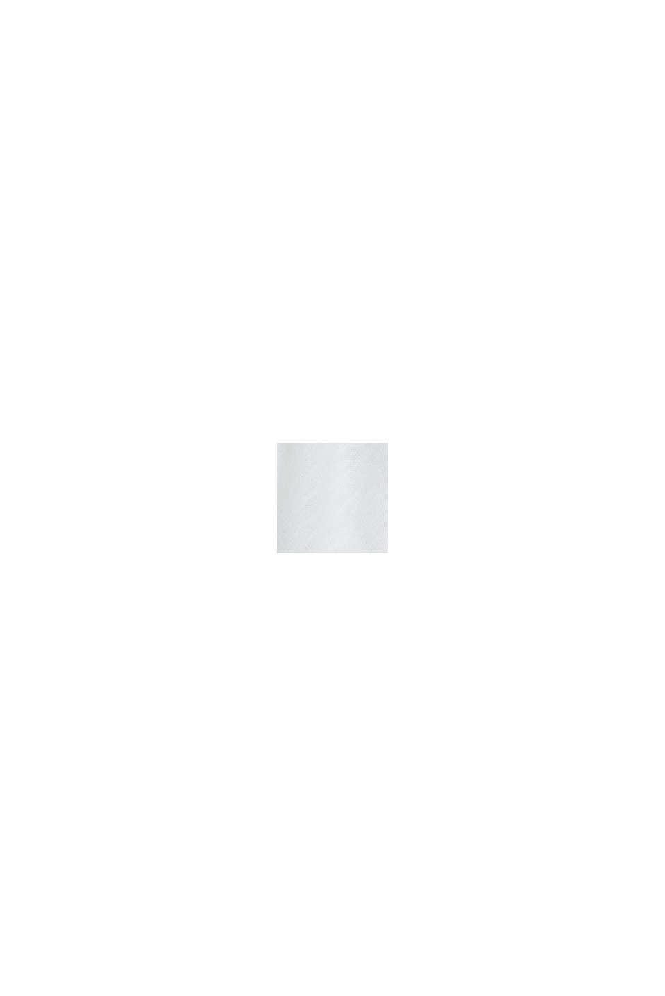 Cardigan aperto in 100% cotone biologico, WHITE, swatch