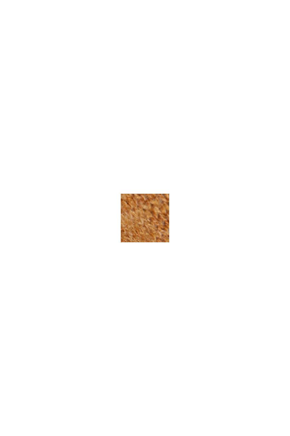 Cardigan aperto in 100% cotone biologico, CARAMEL, swatch