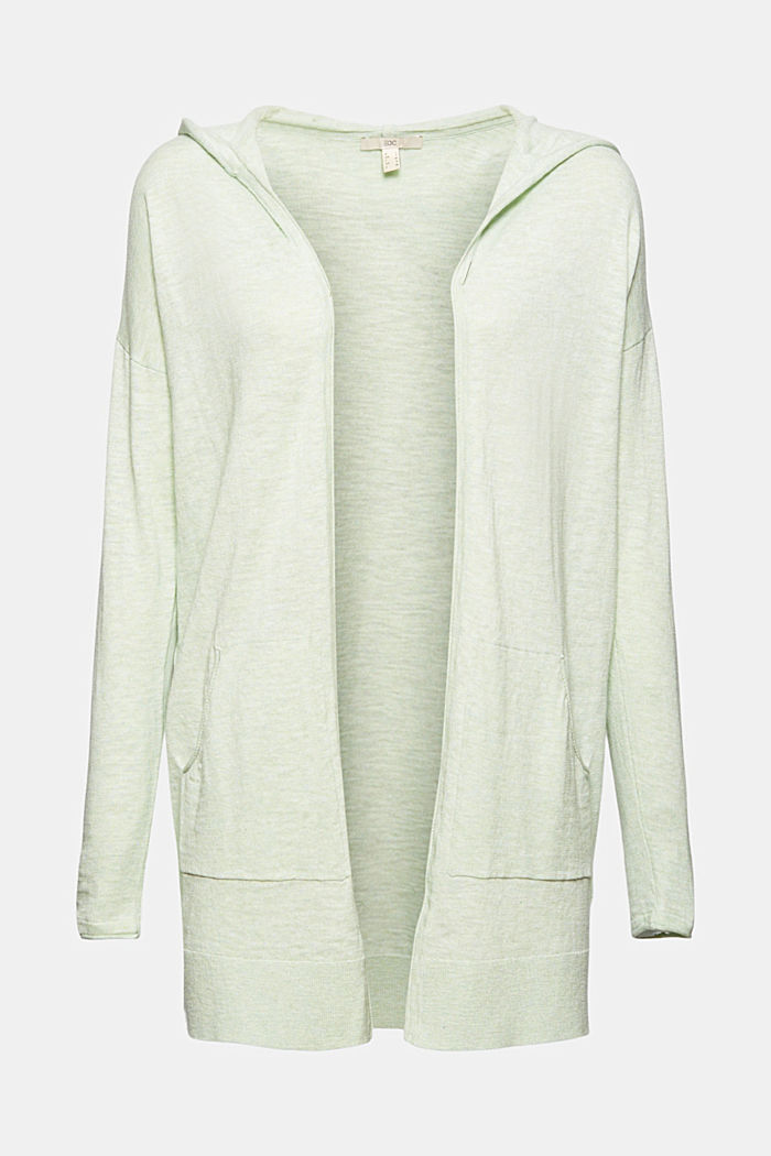 Open cardigan made of 100% organic cotton, PASTEL GREEN, detail image number 6