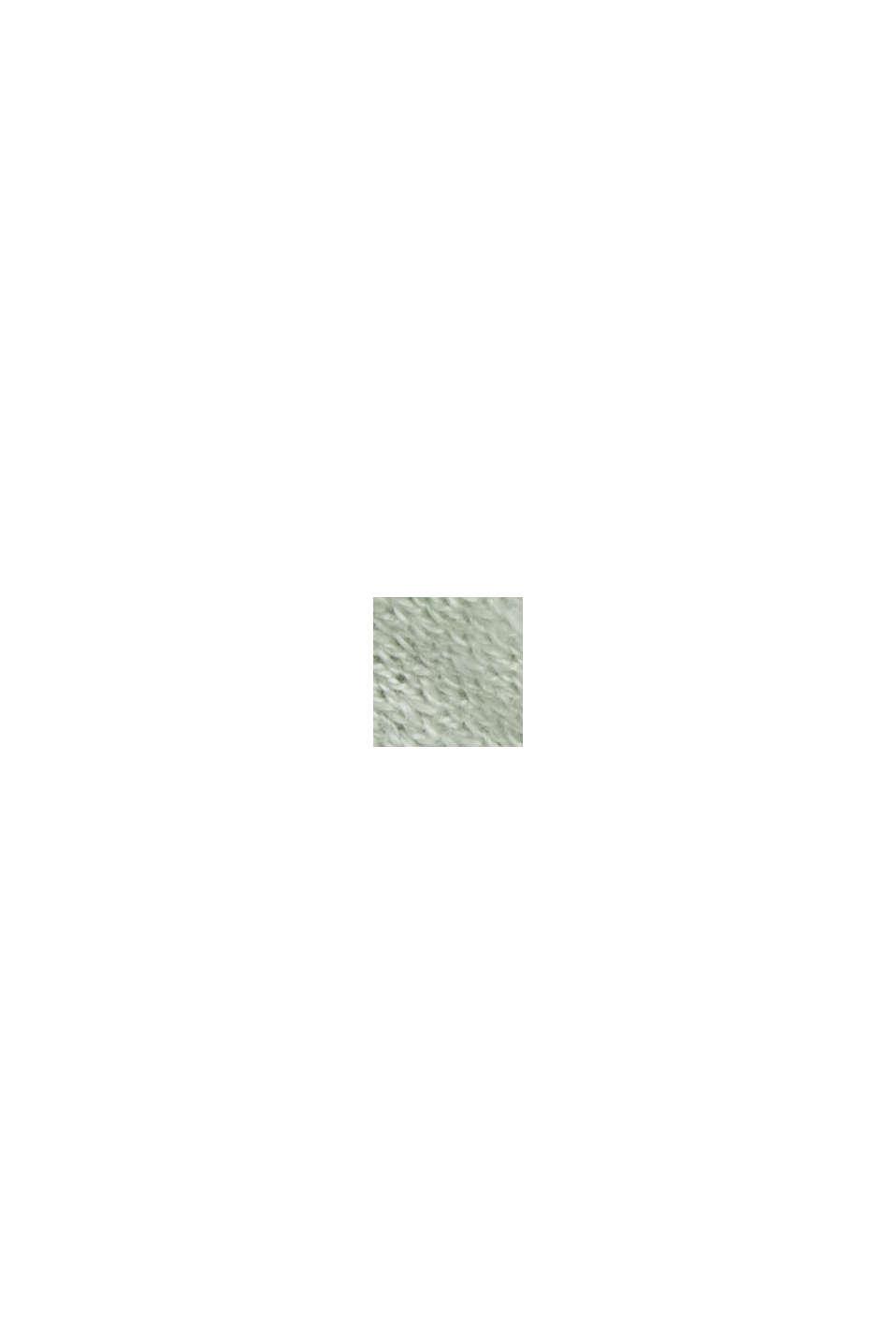 Cardigan ouvert, 100% coton biologique, PASTEL GREEN, swatch