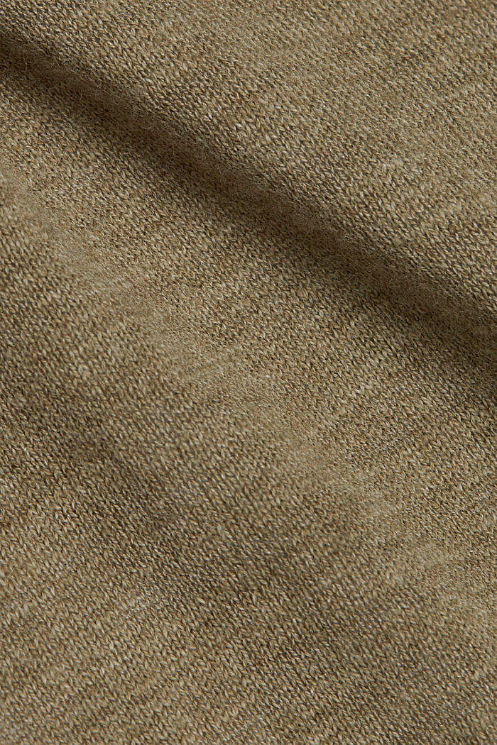 Open cardigan made of 100% organic cotton, LIGHT KHAKI, detail image number 4