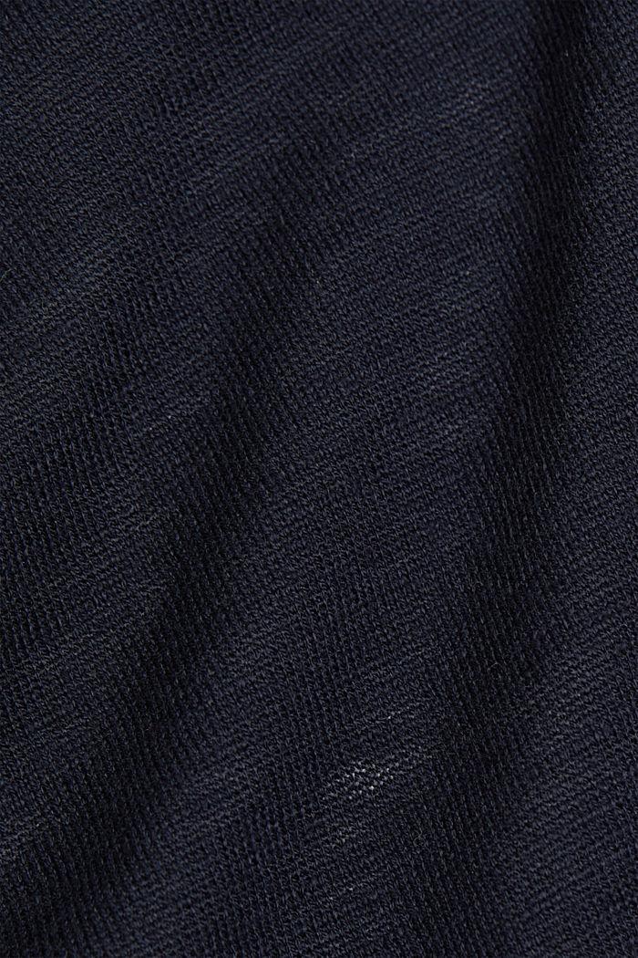 Offener Cardigan aus 100% Bio-Baumwolle, NAVY, detail image number 4