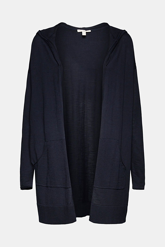 Open cardigan made of 100% organic cotton, NAVY, detail image number 5
