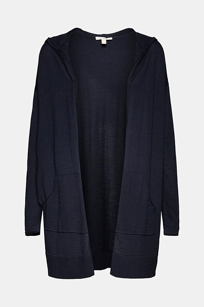 Offener Cardigan aus 100% Bio-Baumwolle, NAVY, detail image number 5