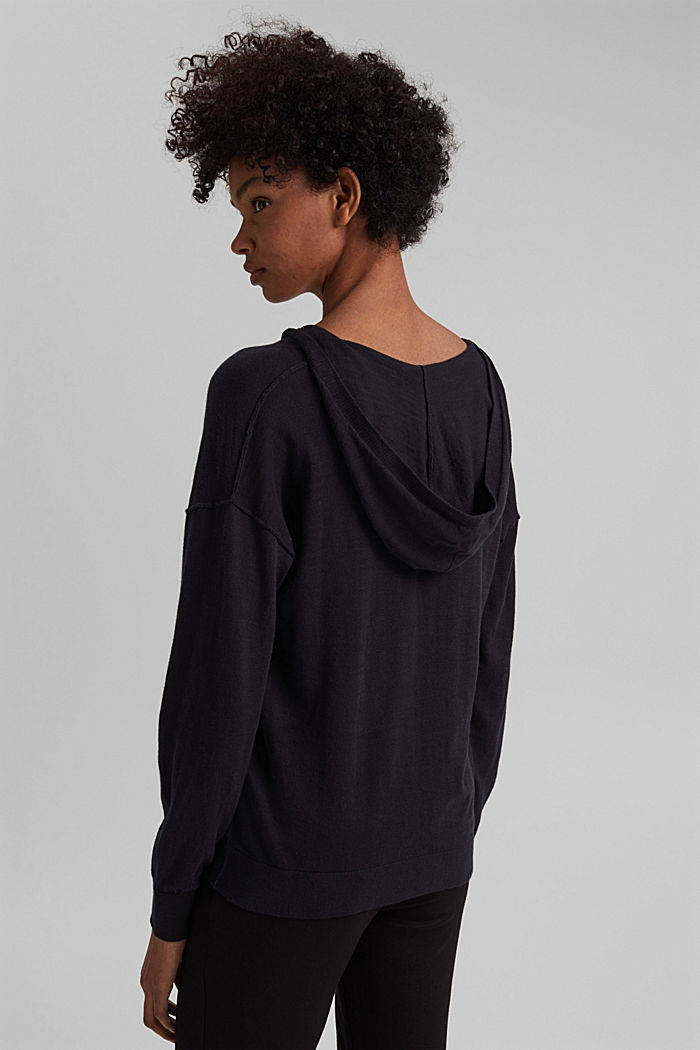 Hoodie aus 100% Bio-Baumwolle, BLACK, detail image number 3