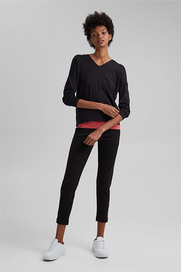 Hoodie aus 100% Bio-Baumwolle, BLACK, detail image number 1