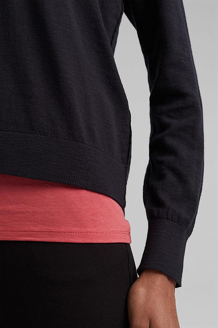 Hoodie aus 100% Bio-Baumwolle, BLACK, detail image number 2