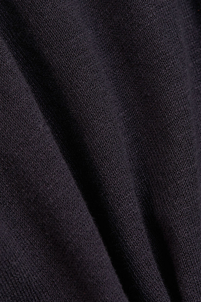 Hoodie made of 100% organic cotton, BLACK, detail image number 4