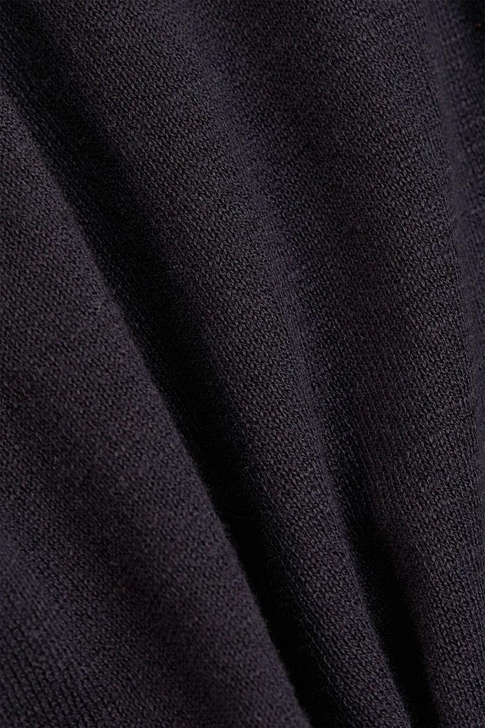 Hoodie aus 100% Bio-Baumwolle, BLACK, detail image number 4