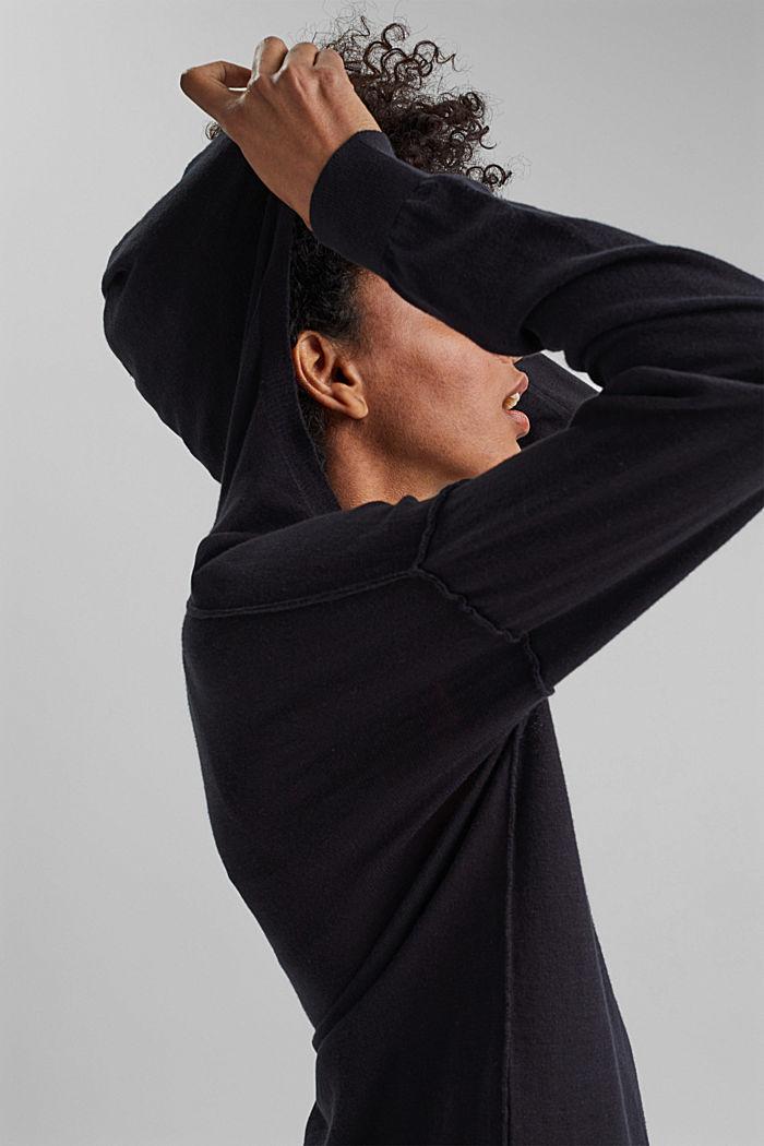 Hoodie aus 100% Bio-Baumwolle, BLACK, detail image number 5