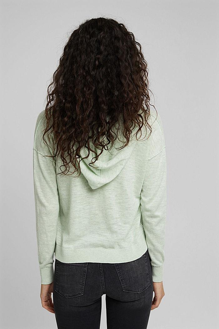 Hoodie made of 100% organic cotton, PASTEL GREEN, detail image number 3
