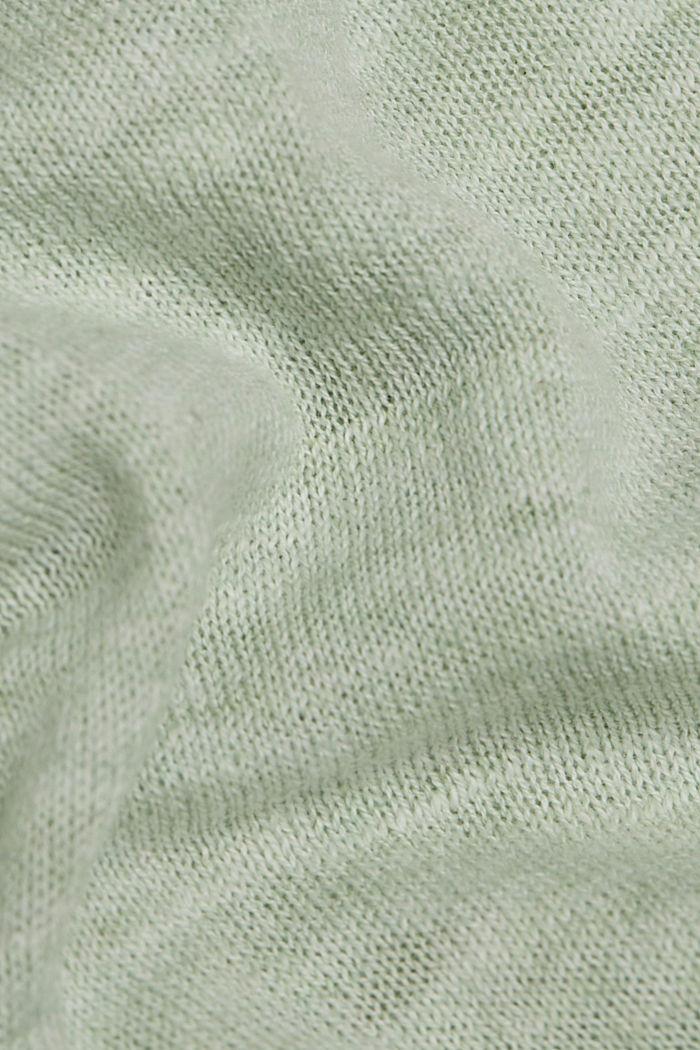 Hoodie made of 100% organic cotton, PASTEL GREEN, detail image number 4