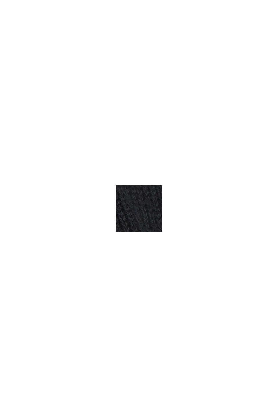 Cárdigan largo confeccionado en una mezcla de algodón con capucha, BLACK, swatch