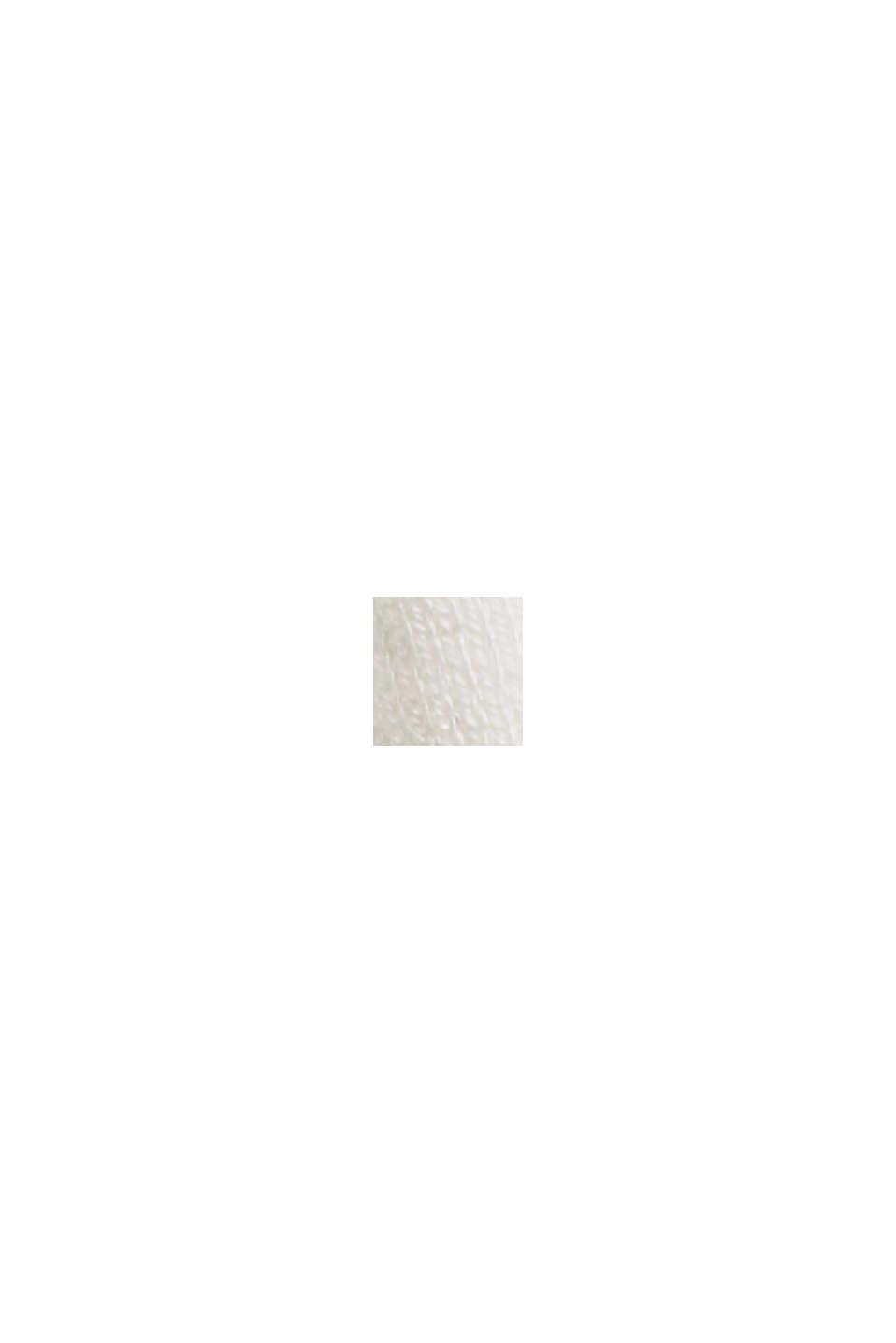 Rullekravebluse med økologisk bomuld, OFF WHITE, swatch