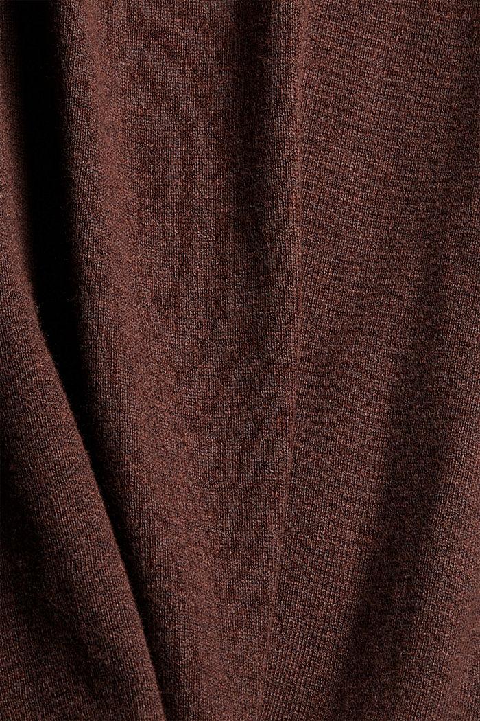 Pull-over à col roulé à teneur en coton biologique, BROWN, detail image number 4