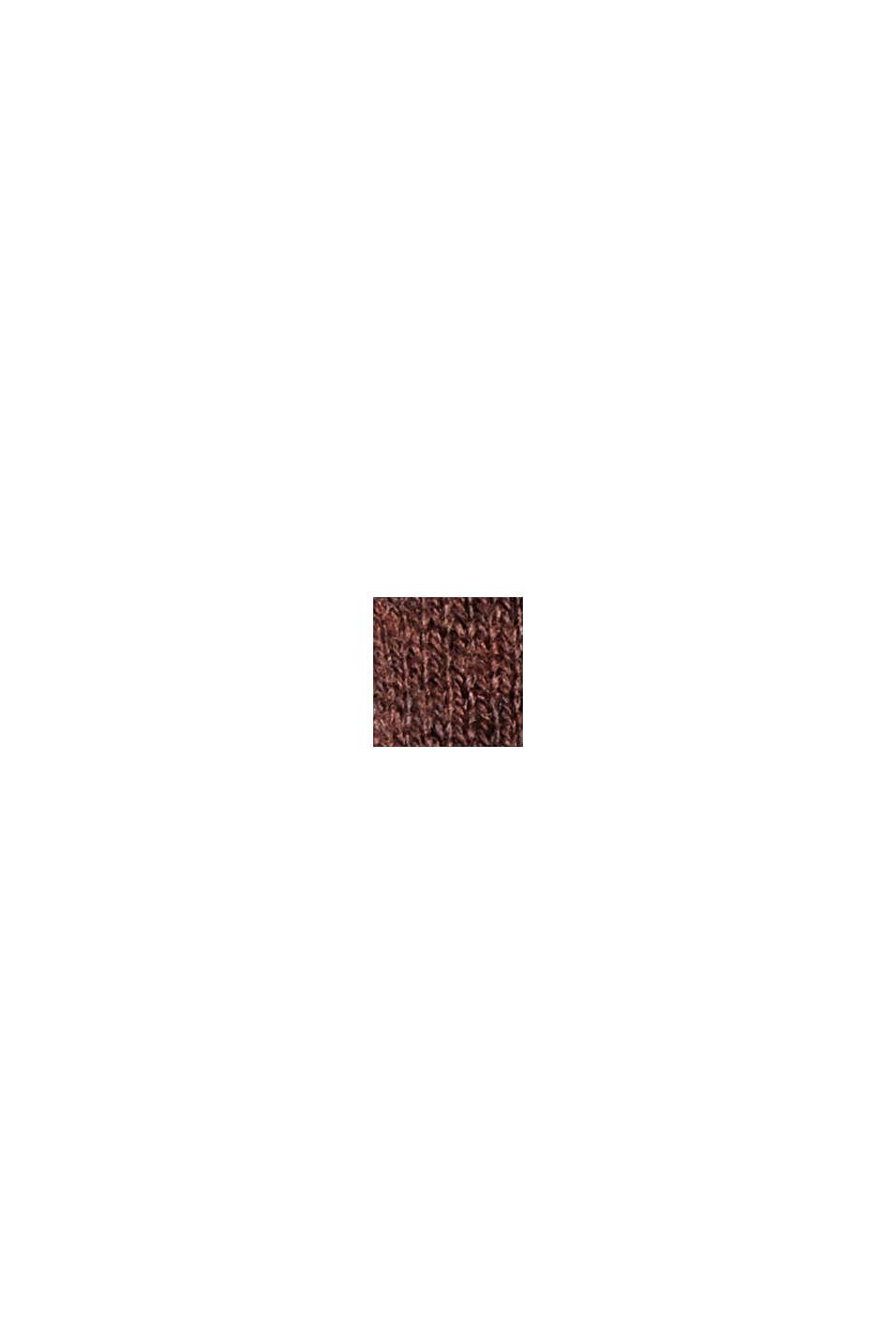 Rullekravebluse med økologisk bomuld, BROWN, swatch