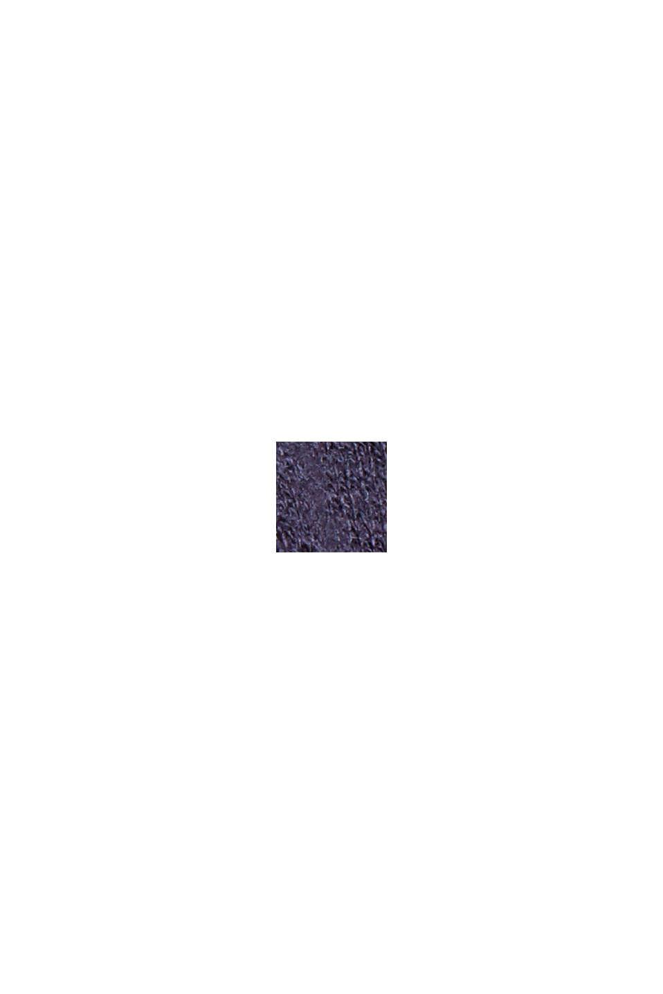 Rullekravebluse med økologisk bomuld, NAVY, swatch