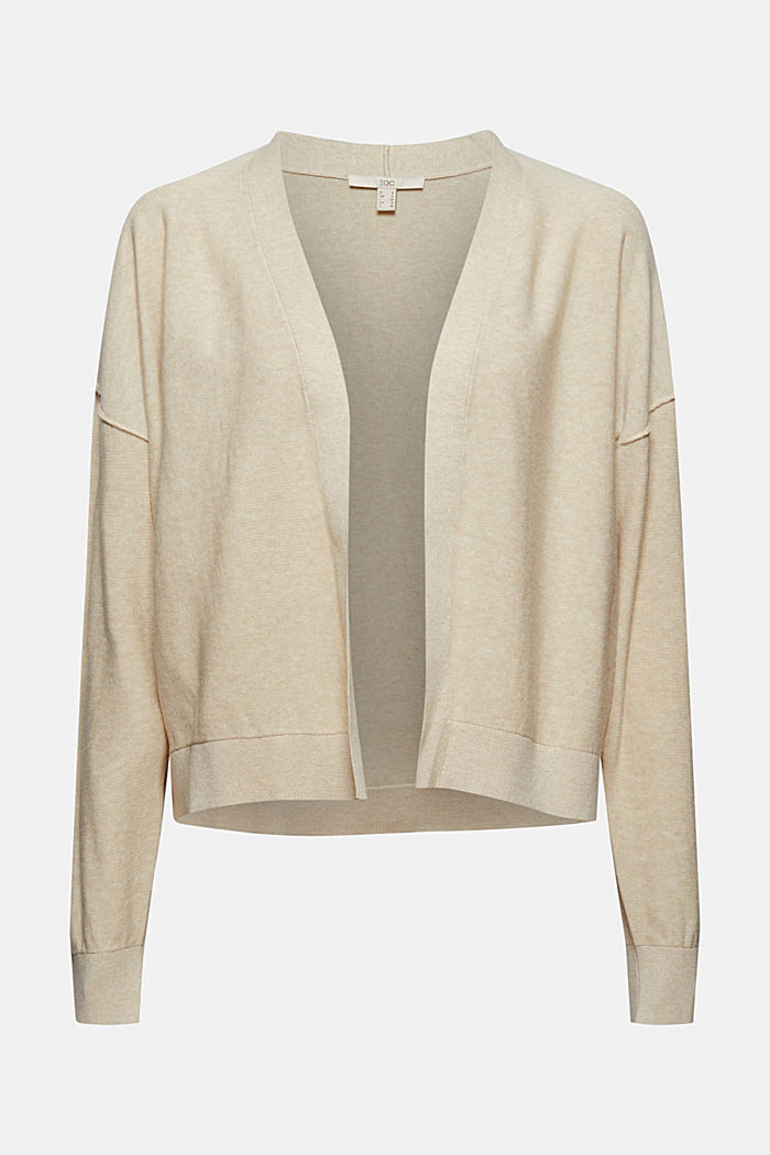 Open cardigan made of 100% organic cotton, BEIGE, detail image number 5