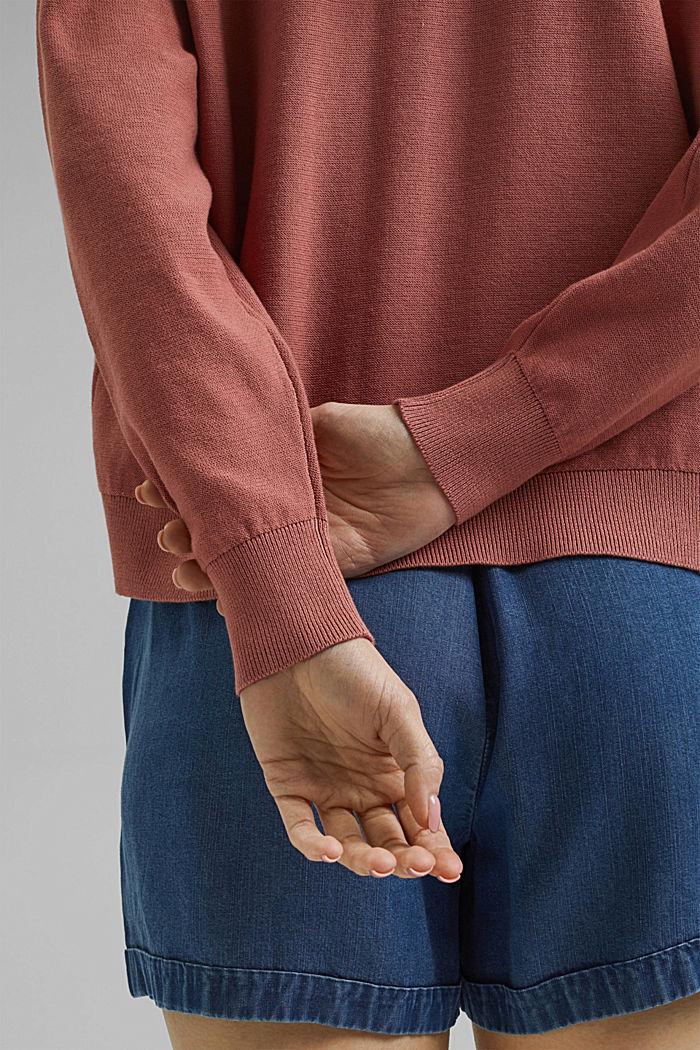 Cardigan aperto in 100% cotone biologico, CORAL, detail image number 2