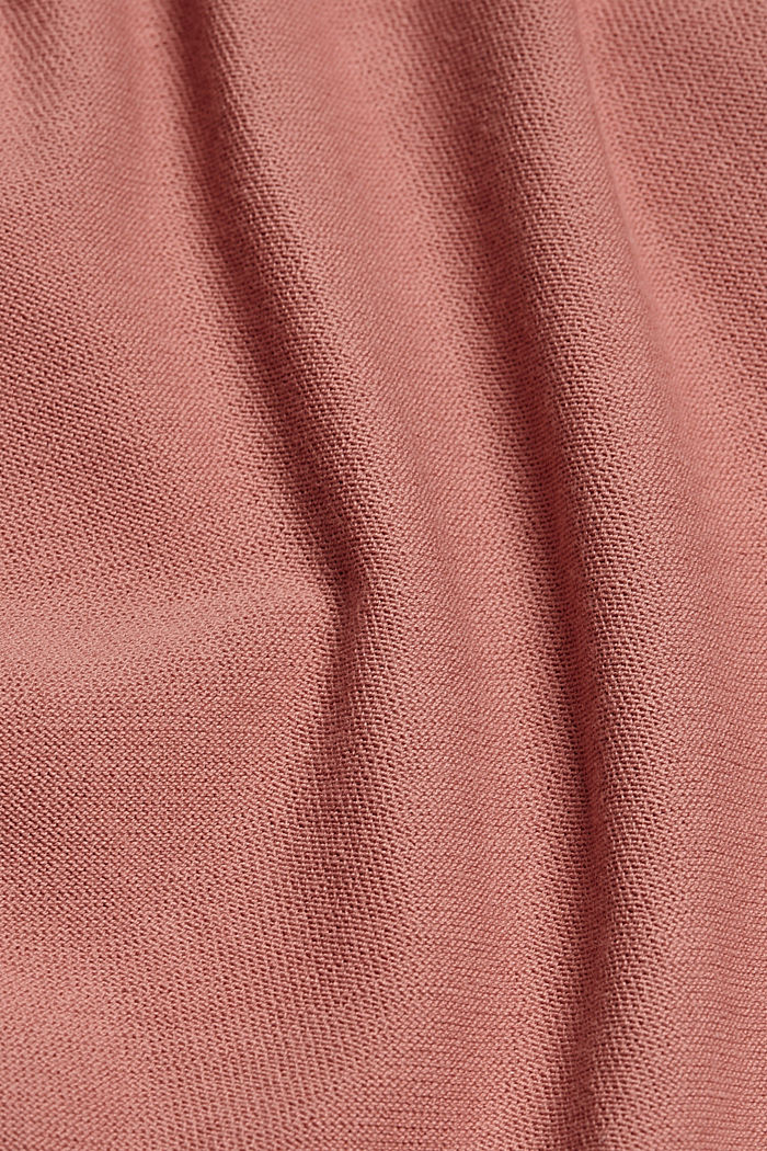 Cardigan aperto in 100% cotone biologico, CORAL, detail image number 4