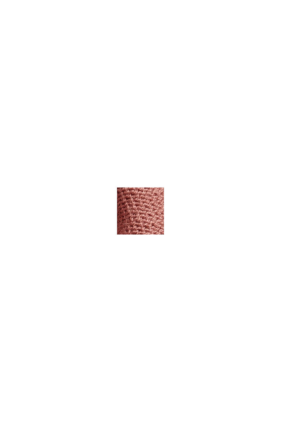 Offener Cardigan aus 100% Organic Cotton, CORAL, swatch