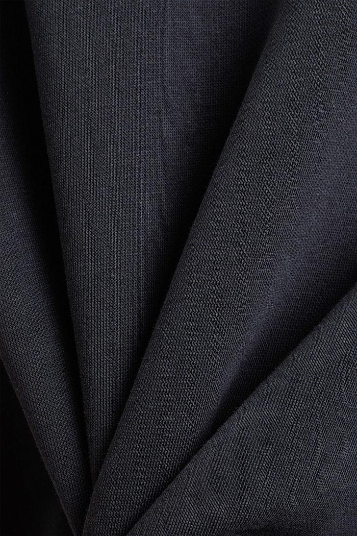 Hoodie van een mix met biologisch katoen, BLACK, detail image number 4