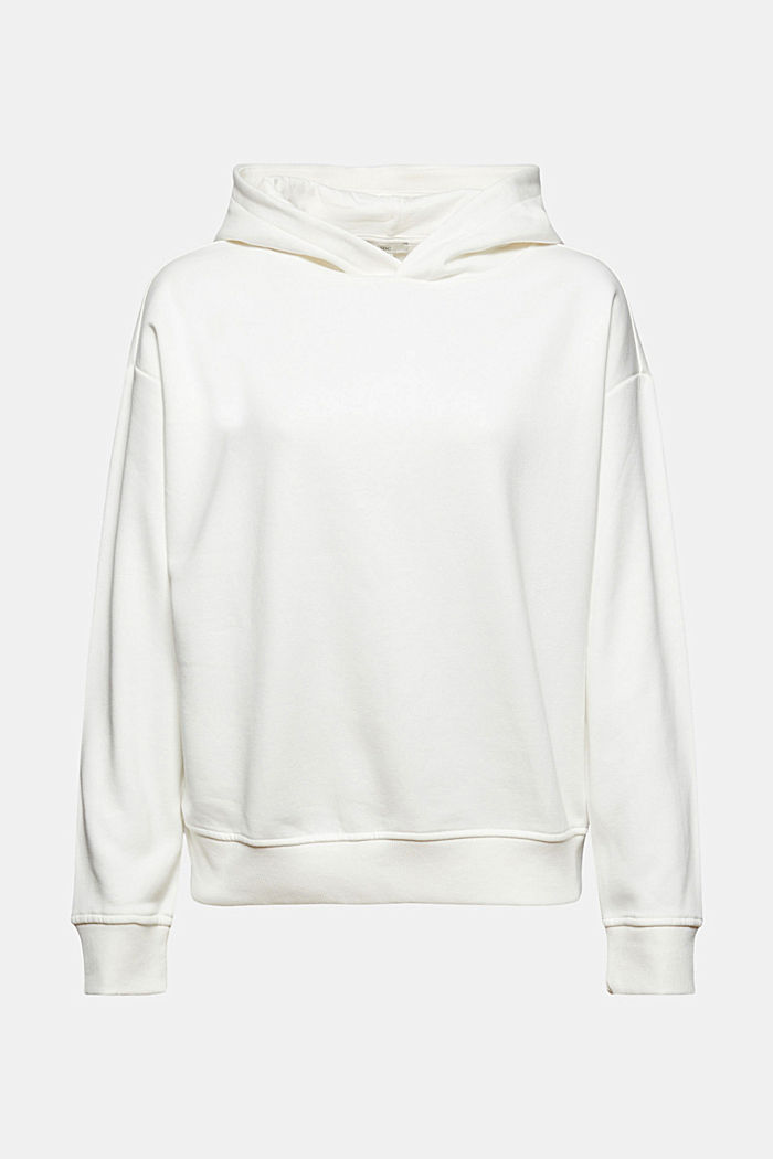 Hoodie made of organic blended cotton, OFF WHITE, detail image number 6